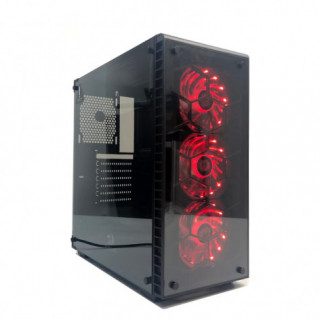 Redragon DAIMONDSTORM Tempered Glass Front/Side|3 x RGB Fan|ATX/Micro ATX - Black